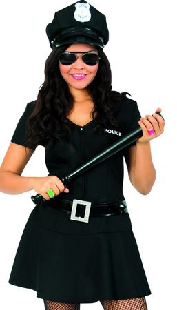 Kostüm Polizistin Mädchen schwarz Polizei Police Girl Polizei Karneval Fasching – Bild 1