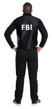 Kostüm FBI Weste Polizei Sondereinsatz Fasching Karneval NEU – Bild 3
