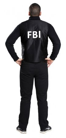FBI Kostüm Weste Polizei Sondereinsatz Uniform Polizei SEK Swat Cop Karneval – Bild 3