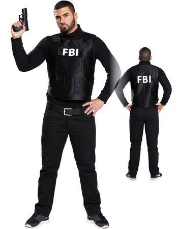 FBI Kostüm Weste Polizei Sondereinsatz Uniform Polizei SEK Swat Cop Karneval – Bild 1