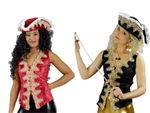 Kostüm Piratenweste Piratin Seeräuberin Samtweste Reiterin Gr.36-46 Karneval 001