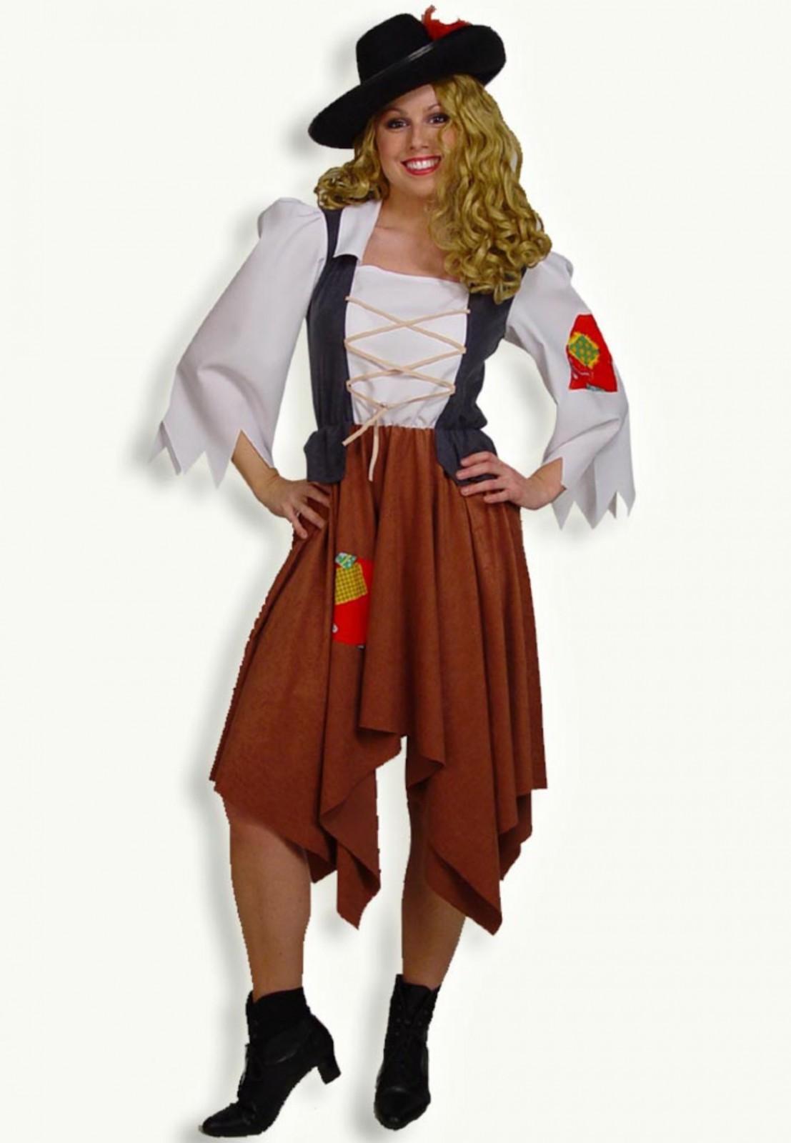 Kostum Rauberbraut Vogelscheuche Hexe Vagabund Gr 36 46 Karneval