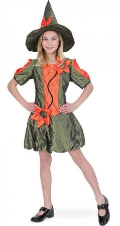 Kinder Kostüm Waldfee m. Hut Blumenfee Hexe Gr.140 152 Halloween Karneval NEU