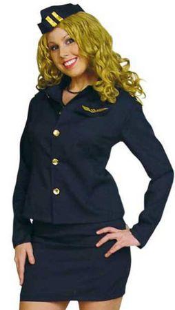 süßes Kostüm Stewardess Flugbegleiterin Uniform Hostess 3tlg. Gr.36-42 Fasching – Bild 2