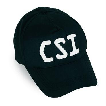 Basecap CSI Kappe Polizei Sonderkommando Cop schwarz Mütze Karneval Fasching – Bild 1