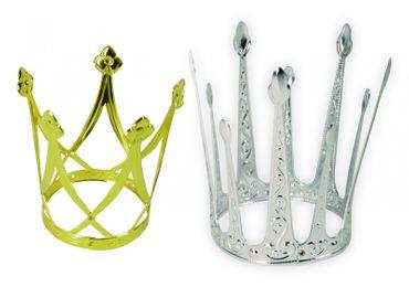 Krone Krönchen gold od silber Froschkönigin Minikrone Prinzessin Karneval NEU