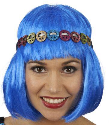 Kostüm Accessoires Peace Stirnband Hippie Fantasy Karneval Fasching NEU
