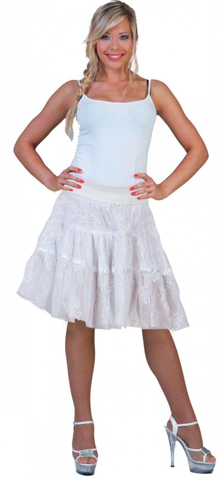 Kostum Tullrock Petticoat Spitzen Rock Schwarz Od Weiss Karneval