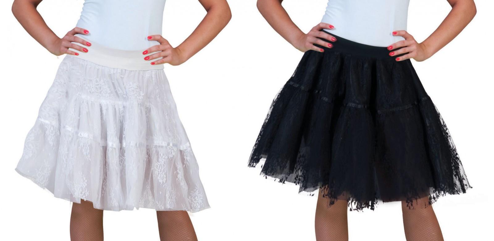huge selection of 34225 85f7c Kostüm Tüllrock Petticoat Spitzen Rock Spitzenrock Tutu schwarz od weiß  Karneval
