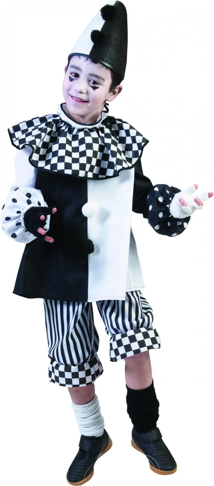 Kostum Pierrot Harlekin Clown Pantomime Kinder Gr 128 164 Fasching