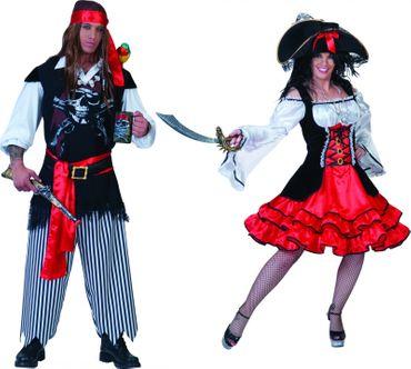 Kostüm Pirat Piratin Piratenkostüm Seeräuber Damen Herren Karneval Fasching – Bild 1