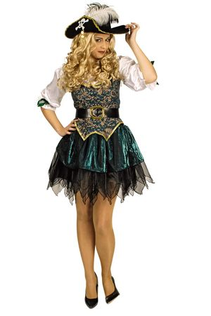 Kostüm Piratin Seeräuberin Freibeuterin Damen Angelica Pirat Karneval Fasching – Bild 1