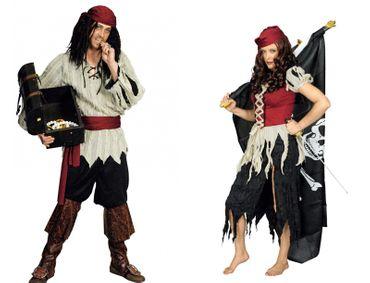 Kostüm Geister Pirat Piratin Lumpenpirat Piratenkostüm Damen Herren Karneval – Bild 1