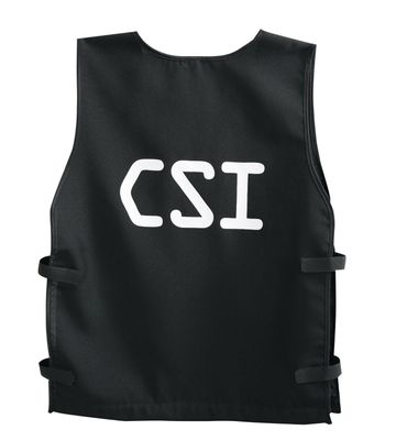CSI Weste Polizei Polizeiweste schwarz Kinder Gr140-164 Kostüm Karneval Fasching – Bild 2