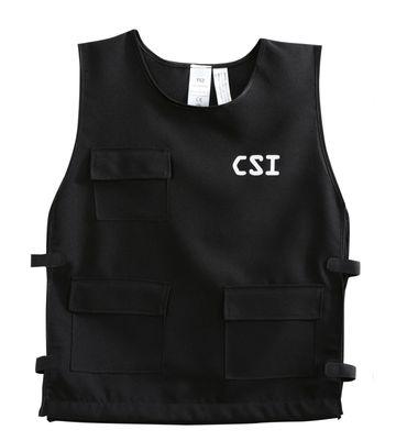 CSI Weste Polizei Polizeiweste schwarz Kinder Gr140-164 Kostüm Karneval Fasching – Bild 1