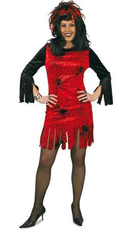 Halloween Kostüm Kleid Damen mit Spinnen Hexe Spider Gr.38-44 Karneval Halloween – Bild 3