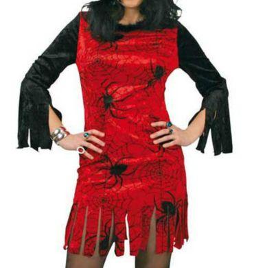 Halloween Kostüm Kleid Damen mit Spinnen Hexe Spider Gr.38-44 Karneval Halloween – Bild 2