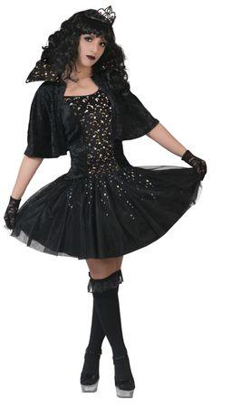 Hexenkostüm Damen schwarzes Kleid Sternenfee m. Cape Gr.32-46 Karneval Fasching – Bild 1