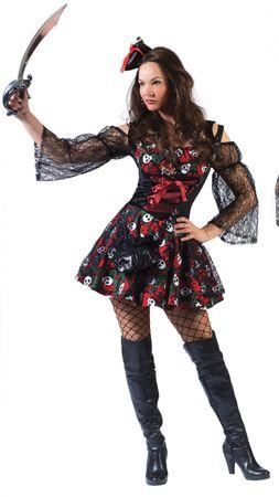 Piraten Kostüm Damen Dia de los Muertes Gr.36-46 Pirat Halloween Fasching Mexiko – Bild 2