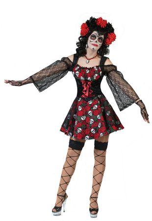 Piraten Kostüm Damen Dia de los Muertes Gr.36-46 Pirat Halloween Fasching Mexiko – Bild 3