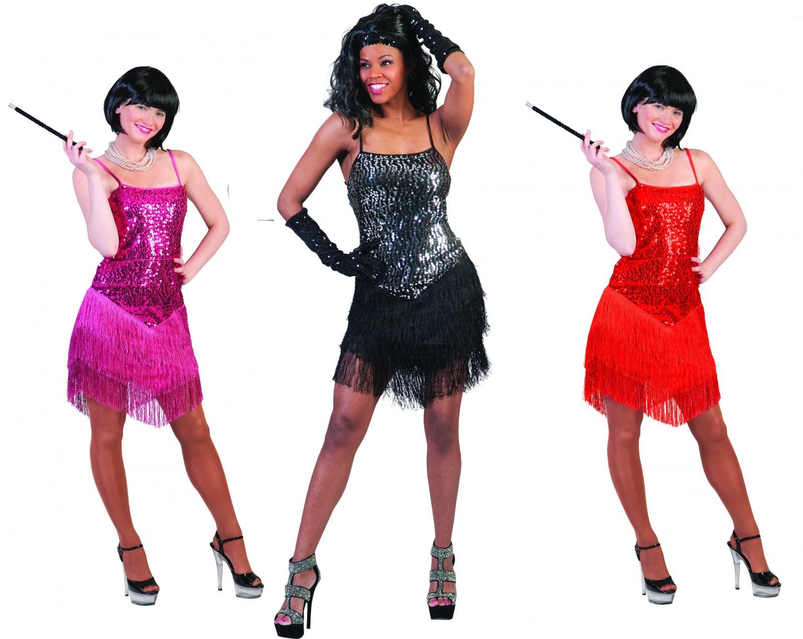f62e06c2564b5 Damen Kostüm Paillettenkleid Glitzerkleid Disco Party 20er Gr.32-46 Karneval