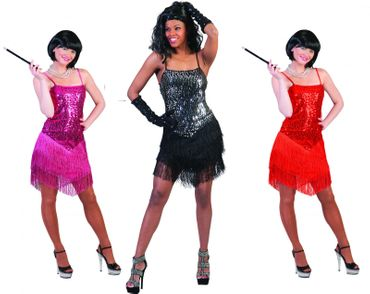 Damen Kostüm Paillettenkleid Glitzerkleid Disco Party 20er Gr.32-46 Karneval – Bild 1