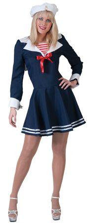 Matrosen Kostüm Damen Matrosin  Marine Kleid Matrosenkleid Navy Gr36-46 Fasching – Bild 2