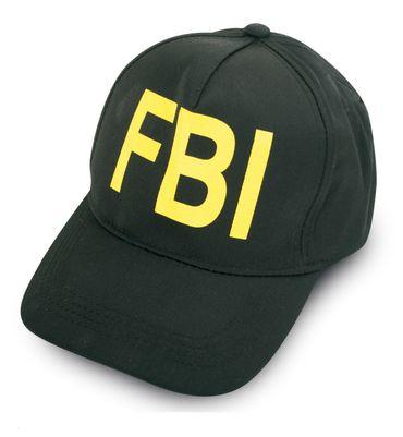 Basecap Polizei Erwachsene Kinder Kappe schwarz FBI Mütze Karneval Fasching – Bild 1