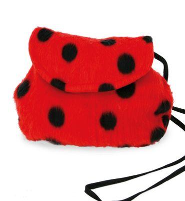 Kostüm Accessoires Marienkäfer Käfer rote Tasche Plüsch Karneval Fasching – Bild 1
