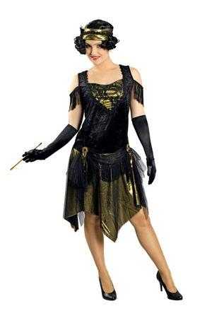 Kostüm Charleston Kleid Swingtime 20er Jahre Jazz Flapper Gatsby Gr.36-46 Krimi – Bild 1