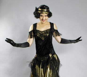 Kostüm Charleston Kleid Swingtime 20er Jahre Jazz Flapper Gatsby Gr.36-46 Krimi – Bild 2