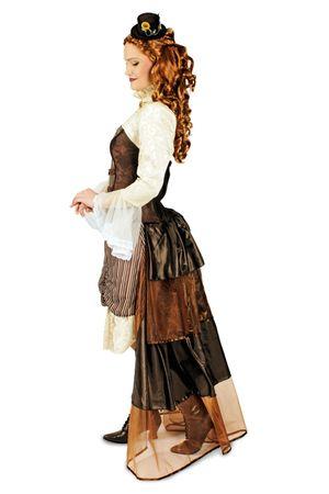 Damen Kostüm Steampunk Viktoria Saloon Girl Western Reiterin Gr.40-46 Karneval – Bild 3