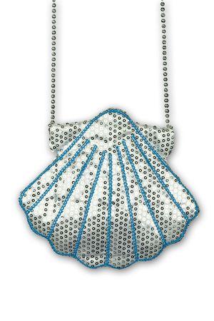 Kostüm Accessoires Tasche Muschel silber Meerjungfrau Nixe Karneval Fasching Neu – Bild 1
