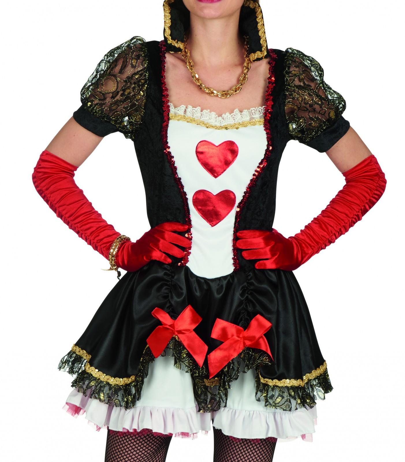 Kostum Rote Konigin Herz Dame Herzkleid M Haarreif Gr 32 42 Marchen