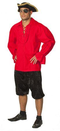 Kostüm Hemd rot Pirat Spanier Vampir Piratenhemd Gr.48-56 Karneval Fasching