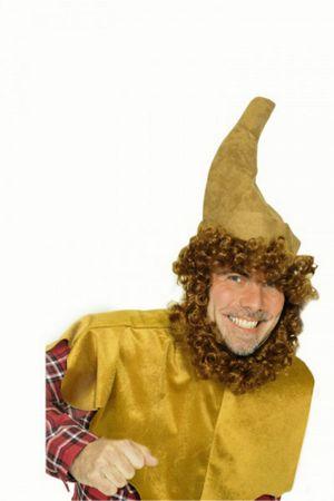 Kostüm Märchen Cape Umhang Kragen braun Wichtel Troll Zwerg Karneval Fasching – Bild 1
