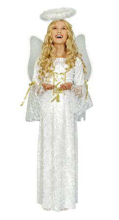 Kostüm Engel Prinzessin Gr. 98-128 Engelskleid Krippenspiel Weihnachten Karneval