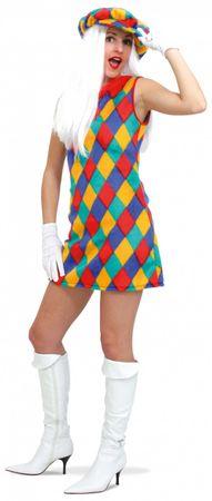 Kostüm Plüschkleid m. Hut Hippie Clown Fantasy Gr.36-42 Fasching Karneval  – Bild 1