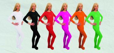Kostüm Nylon Body viele Farben Gr.36-50 140DEN Langarmbody Halloween Karneval – Bild 1