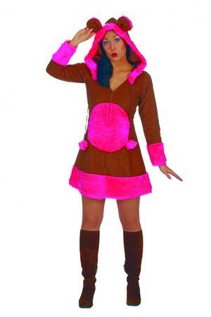 Kostüm Bärchenkostüm Kleid m Kapuze Bärchen Monster Clown Gr.36-50 Karneval