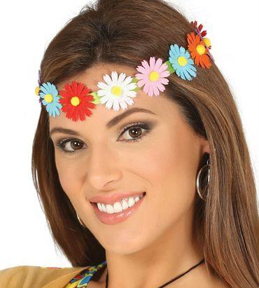 Kostüm Accessoires Stirnband bunte Blumen Blumenstirnband Hippie Fee Märchen – Bild 2