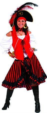 Kostüm Piratin Damen Jacky Piratenkostüm Seeräuberin Gr.36-42 Karneval Fasching – Bild 1