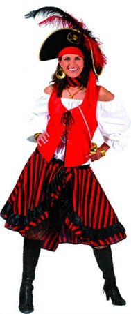 Kostüm Piratin Damen Jacky Piratenkostüm Seeräuberin Gr.36-42 Karneval Fasching – Bild 3