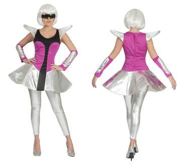 Damen Kostüm Spacy Tina Space Raumschiff Weltraum Gr.36-46 Karneval Fasching – Bild 1