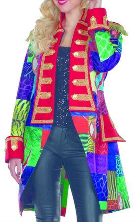 Kostüm Jacke bunter Frack Damen Multi-Patch Zirkus Fantasy Gr.36-46 Karneval – Bild 1