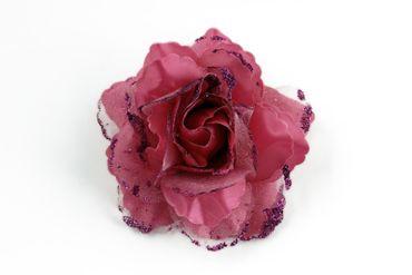 Kostüm Accessoires Blume Blüte Rose m Clips Spanierin Flamenco Hippie  – Bild 2