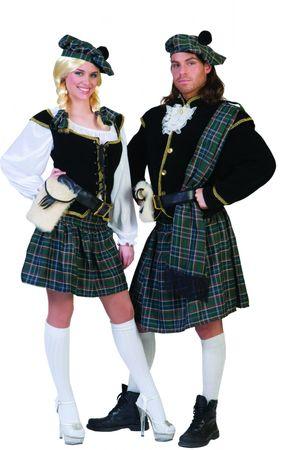 Kostüm Schottin Schotte Highländerin Schottenkostüm Damen Herren Partnerkostüm  – Bild 1