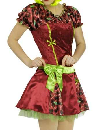 Kostüm süße Früchtchen Früchte Erdbeere Kirsche Zitrone Obst Kleid Karneval – Bild 4