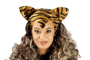 tolle Perücke Tiger Tigerperücke Tierperücke mit Ohren/Haaren Karneval Fasching – Bild 1