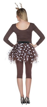 Kostüm Petticoat Tüllrock Reh Rehkitz braun/weiß Karneval Fasching – Bild 2